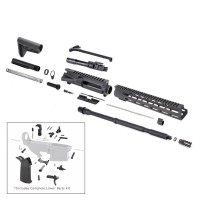 "AR-15 5.56 NATO 16"" M4 M-LOK CARBINE RIFLE KIT WITH MAGPUL STOCK AND 12"" M-LOK RAIL"